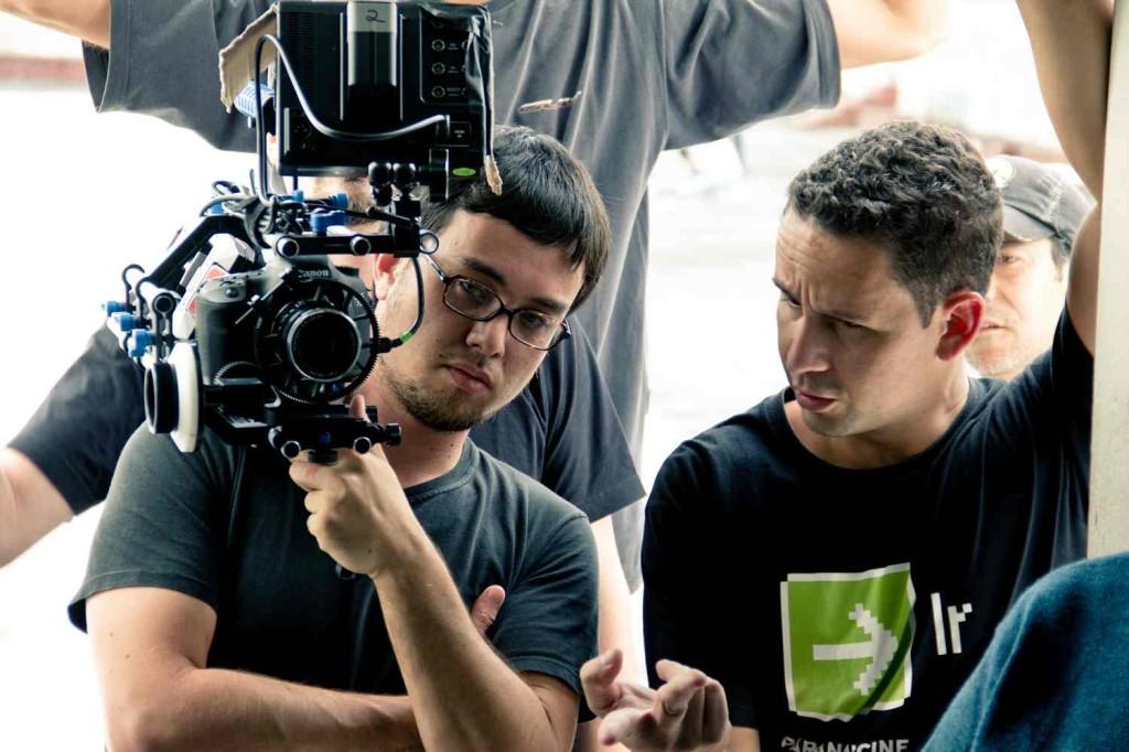 André Chesini diretor de fotografia e Aly Muritiba em baixa